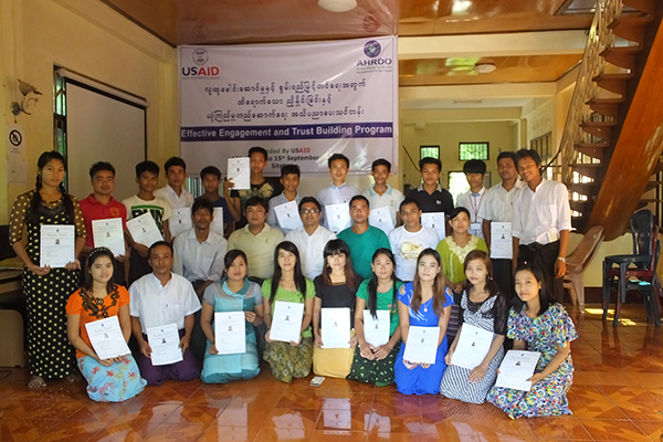 Certificate to youth empowerment and capacity building traineeAHRDO