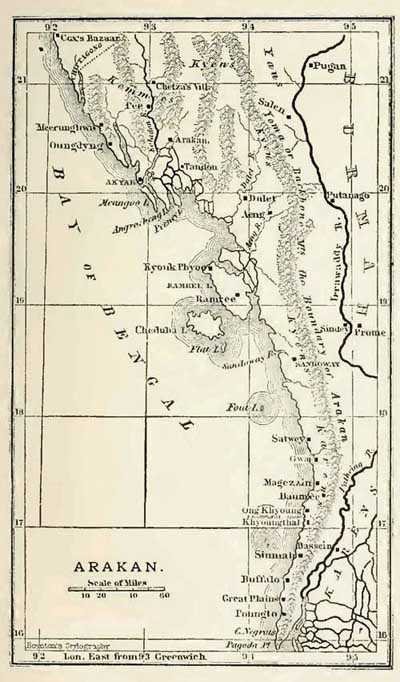 Old Arakan Map